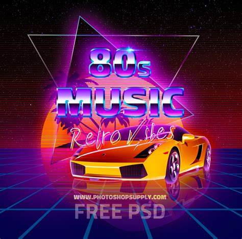 Car Wallpapers Free Psd Flyer Template by Free 80s Retro Background Text Effect Photoshop Supply