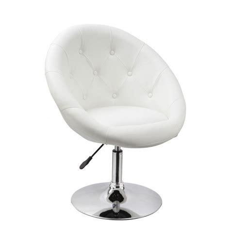 fauteuil de bureau cuir blanc fauteuil oeuf capitonné design cuir pu chaise bureau blanc