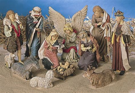 large 12 piece outdoor christmas nativity set w stable ebay