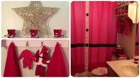 christmas santa bathroom decor