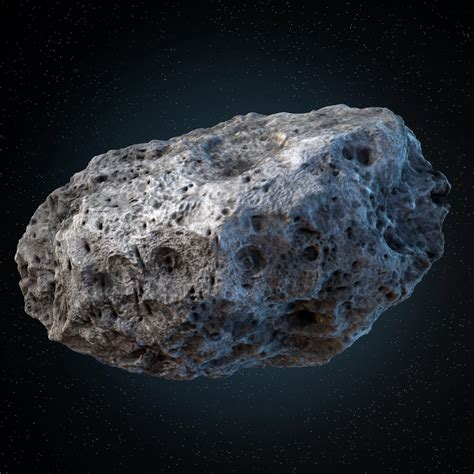 3d model asteroid meteoroid rock
