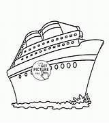 Cruise Ship Coloring Pages Transportation Printable Wuppsy Drawing Printables Ships Disney Boys Templates Titanic Tags Ninjago Getdrawings sketch template