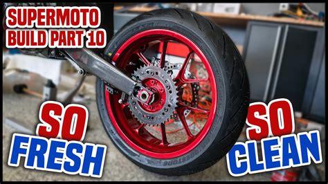 supermoto wheels   dirt bike supermoto build part