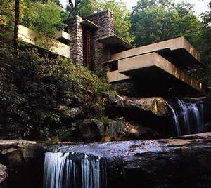 Fallingwater pictures: view showing two waterfalls (Frank ...