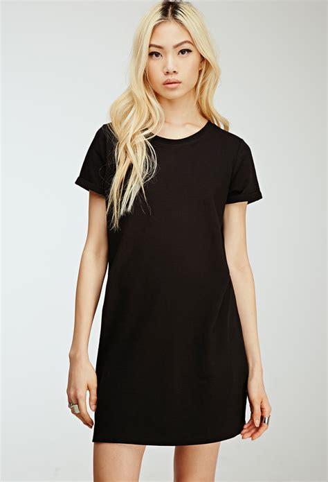t shirt dresses forever 21 t shirt dress in black lyst