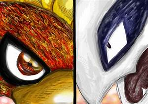 Ho-oh VS Lugia by AshKetchumLove4ever on DeviantArt