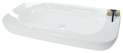 Modern Above Counter Bathroom Sinks by Rectangular Ceramic Above Counter Vessel Sink