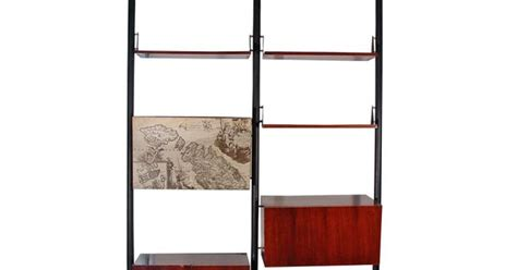 Floor To Ceiling Tension Rod Shelves by Tension Pole Room Divider And Shelving Unit From Italy