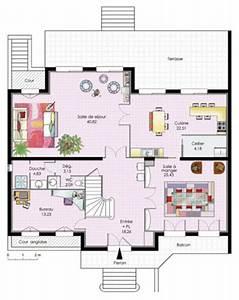 Plan Maison 6 Chambres : maison familiale 6 d tail du plan de maison familiale 6 faire construire sa maison ~ Voncanada.com Idées de Décoration