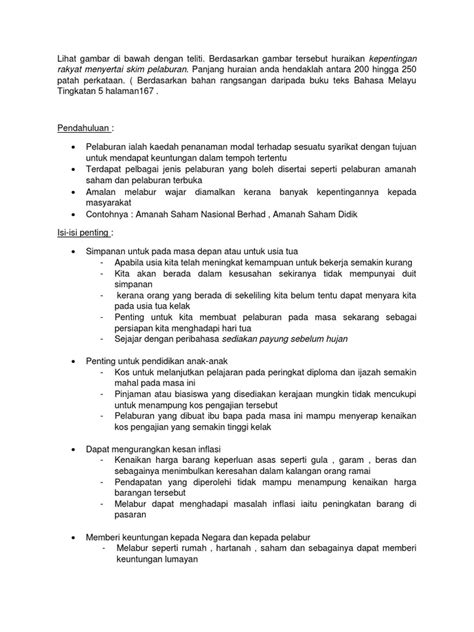 Contoh Karangan 250 Patah Perkataan Contoh Contoh Karangan Cemerlang Spm Karangan Berdasarkan Bahan Rangsangan Tingkatan 2 Caspil