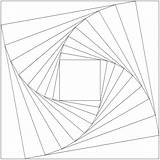 Drawing Coloring Geometric Templates Pages Designs Illusion Patterns Triangle Square Whirls Draw Op Embroidery Drawings Geometry 3d Illusions Optical Math sketch template