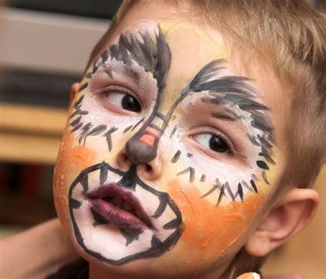 bild  kinderschminken vorlage loewe und tiger
