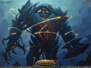 wallpaper of the week blightsteel colossus magic the gathering