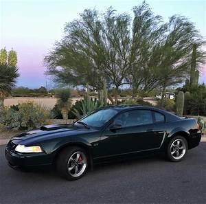 4th gen Dark Highland Green 2001 Ford Mustang Bullitt For Sale - MustangCarPlace