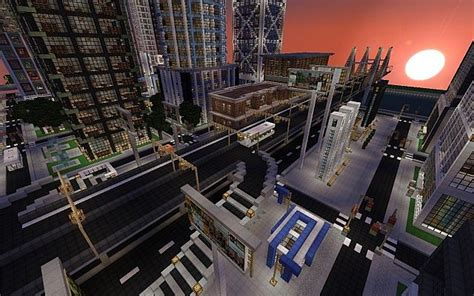 map ville moderne new crafton minecraft aventure