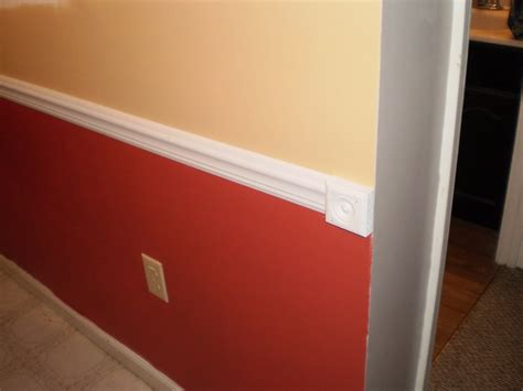 wall divided with chair rail house projects