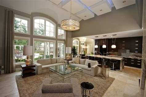 paint ideas for open living room and kitchen oakville open concept living contemporary living