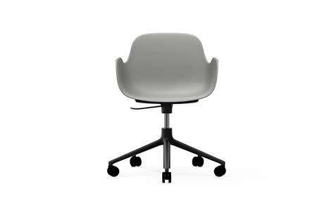 Grey Form Swivel Armchair W. Castors