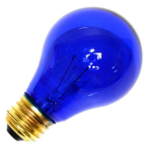 satco 06082 standard transparent colored light bulb