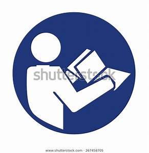 Manual Book Symbol Read Before Use Stock Vector  Royalty