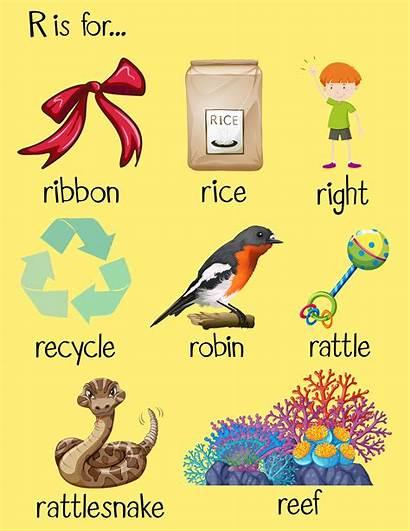 Letter Words Begin Many Start Alphabet Clipart