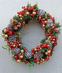 Diy, Glitter, Pine, Cone, Wreath