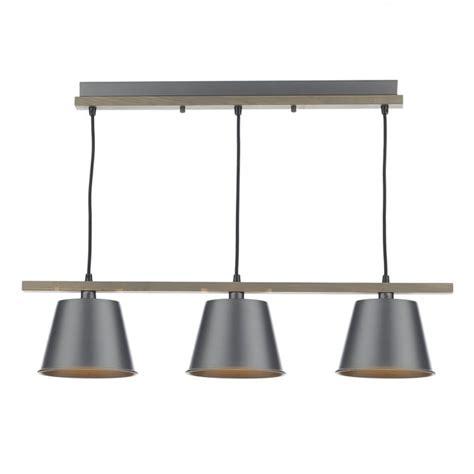dar lighting arken 3 light wooden ceiling pendant with