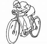 Cycling Coloring Coloringcrew sketch template