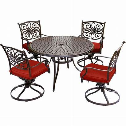 Dining Patio Hanover Glass Furniture Piece Table