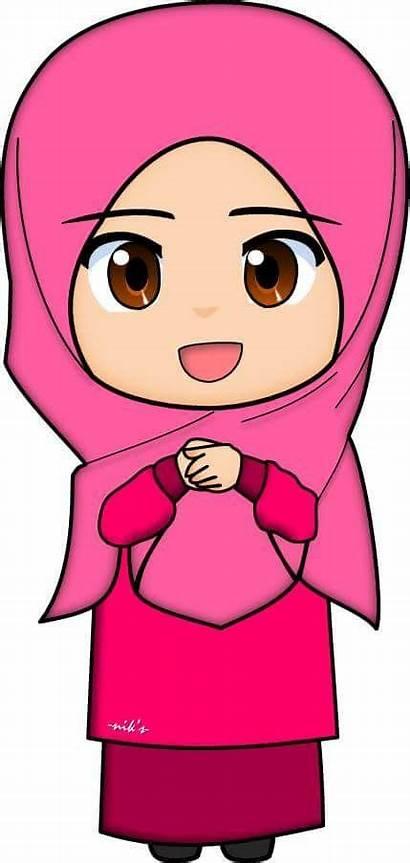 Clipart Muslim Islamic Muslimah Cartoon Animation Station
