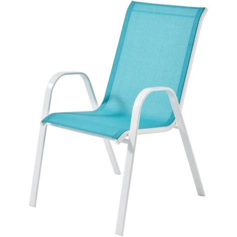 Stacking Sling Chair by Mainstays Heritage Park Stacking Sling Chair Turquoise