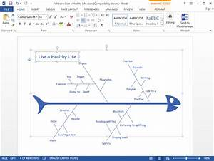 How To Draw Fishbone Diagram In Word
