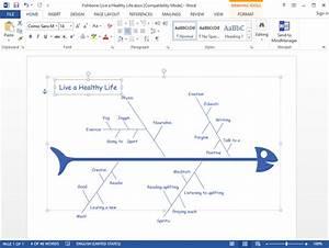 Create Fishbone Diagram For Word