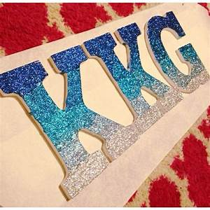 25 best ideas about glitter letters on pinterest With decorated greek letters