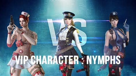 crossfire 2 0 nymphs vs vip characters vvip character