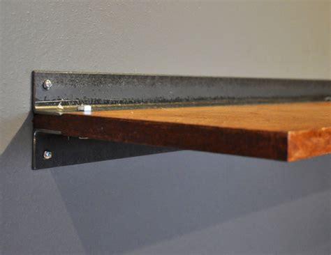 Floating Shelf Slim Floating Wood Shelf With Steel Bracket