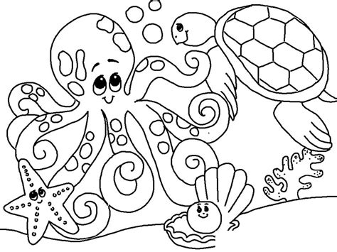 sea coloring pages  print  kids