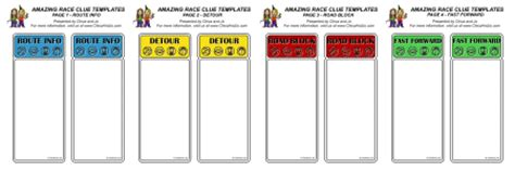 The Amazing Race Clue Template by Detour On Amazing Race