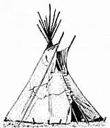 Tent Wigwam Teepee Clipart Drawing Coloring Native American Indian Pages Americans Tipi Teepees Clip Colouring Printable Indians Sheet Architecture Tepee sketch template