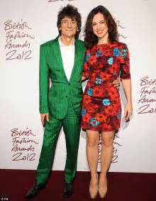 wedding band with engagement ring ronnie wood and sally humphreys spark marriage rumours as they both step out wearing wedding