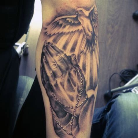 top  cool  stylish praying hands tattoo designs
