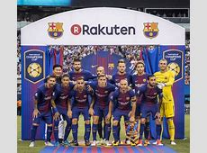 FC Barcelona unveils Rakuten jerseys for stylish win over