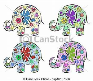 Blumen Bilder Gemalt : vektoren von satz von elefanten gemalt per blumen freigestellt csp16107336 suchen ~ Orissabook.com Haus und Dekorationen