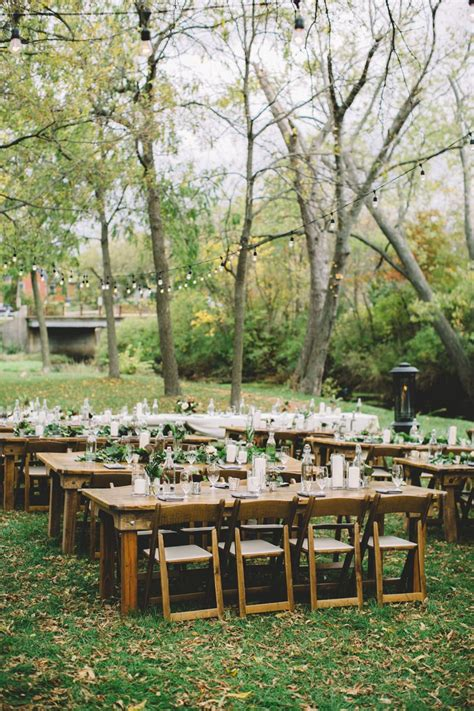 rustic outdoor autumn wedding  wisconsin