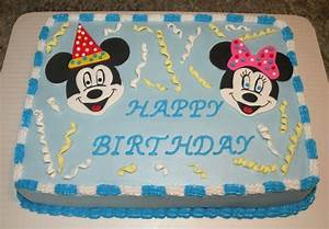 Mickey And Minnie Mouse Cake - CakeCentral.com