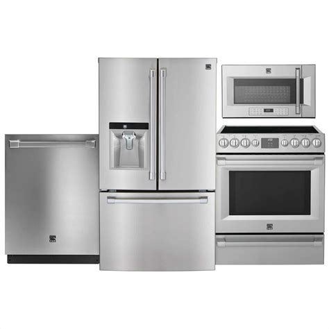 kitchen ideas with stainless steel appliances stainless steel appliance package kitchen appliance