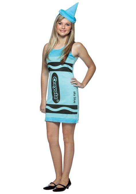 sky blue crayon teen dress costume crayon costumes for teens