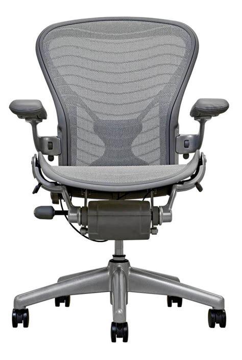 herman miller bureau aeron chair smoke titanium finish office furniture
