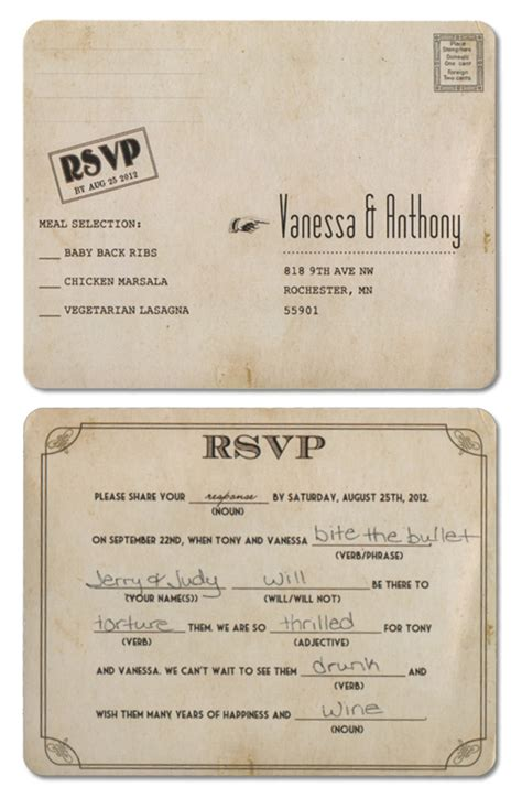 wedding mad lib template mad lib wedding rsvp mn wedding