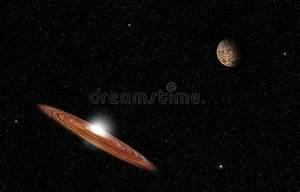 Grande Galassia Nello Spazio Profondo Con Un Cielo Pieno